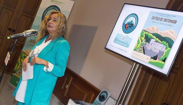 La presidenta de la Diputación de Pontevedra, Carmela Silva, durante el acto.