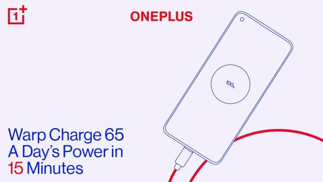 OnePlus 8T incorporará la tecnología de carga rápida Warp Charge de 65W