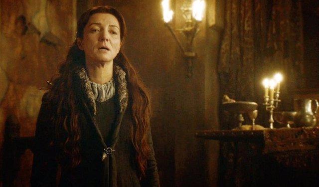 Catelyn Stark en la Boda Roja de Juego de tronos