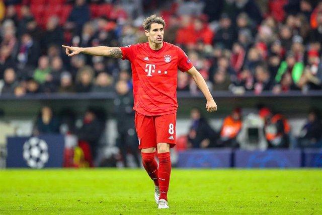 Javi Martínez durante un partido del Bayern Múnich