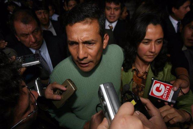 El expresidente de Perú, Ollanta Humala, y su esposa Nadine Heredia.