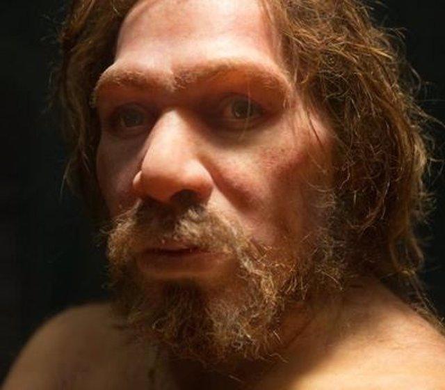 Recreación de varón neandertal