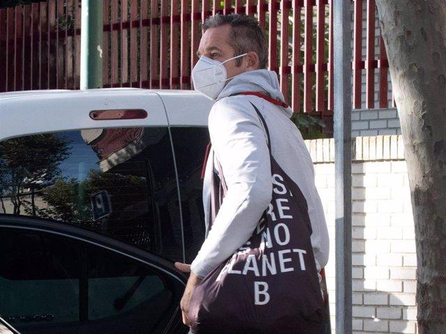 Iñaki Urdangarín, a su llegada esta mañana al centro Don Orione