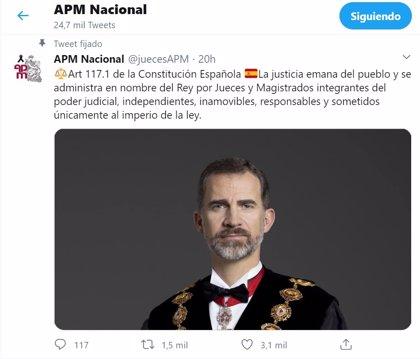 Los jueces reivindican en redes la figura del Rey ante la ausencia del jefe del Estado en Barcelona