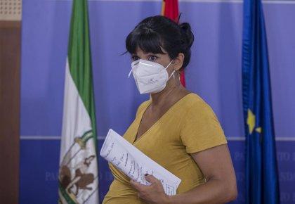 """El Parlamento vuelve a denegar a Teresa Rodríguez su solicitud de """"renunciar a dietas"""" durante el permiso de maternidad"""