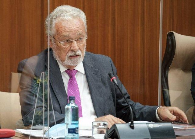 El Defensor del Menor, Jesús Maeztu, durante una comparencia parlamentaria en comisión.