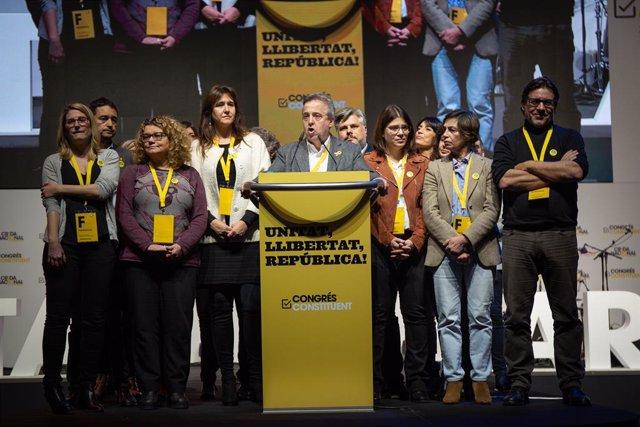 Antoni Morral en el congrés de la Crida Nacional per la República