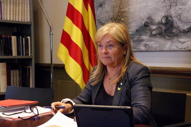 La consellera de Cultura, Àngels Ponsa, al Departament, el 25 de setembre del 2020 (horitzontal)