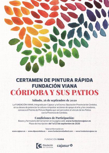 Más de 80 artistas participan en el concurso de pintura rápida 'Córdoba y sus patios' de Fundación Viana