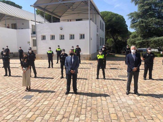 El primer grupo del Curso de Ingreso a los Cuerpos de la Policía Local de Andalucía completa la formación presencial en la Escuela de Seguridad Pública de Andalucía.