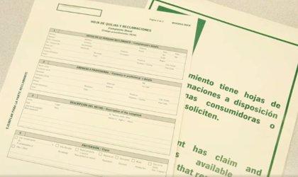 Consumo comprobará precios y hojas de quejas y reclamaciones en más de 600 establecimientos