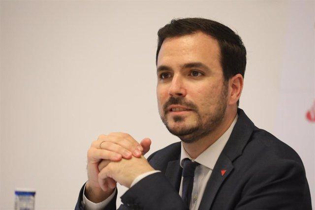 Imagen de recurso del ministro de Consumo, Alberto Garzón.