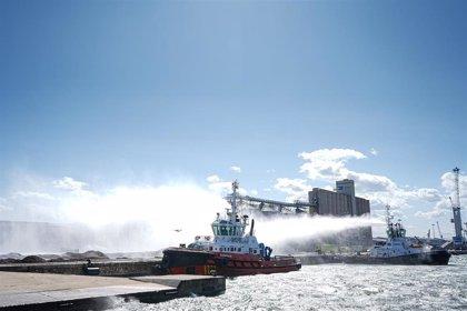Estabilizado un incendio de biomasa en el muelle de Aragó del Port de Tarragona