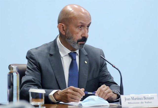 El ministre de Salut, Joan Martínez Benazet.