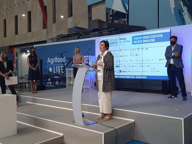 Viceconsejera de Agricultura, Ganadería, Pesca y Desarrollo Sostenible de la Junta de Andalucía, Ana Corredera, en Smart Agrifood Summit 2020