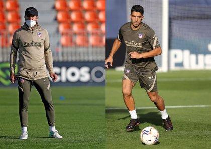 Simeone vuelve al trabajo en el primer entrenamiento de Suárez