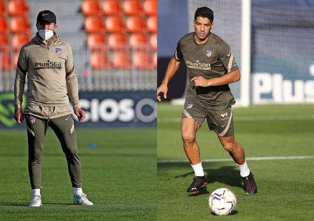Diego Pablo Simeone vuelve a entrenar tras superar la COVID en el primer día de