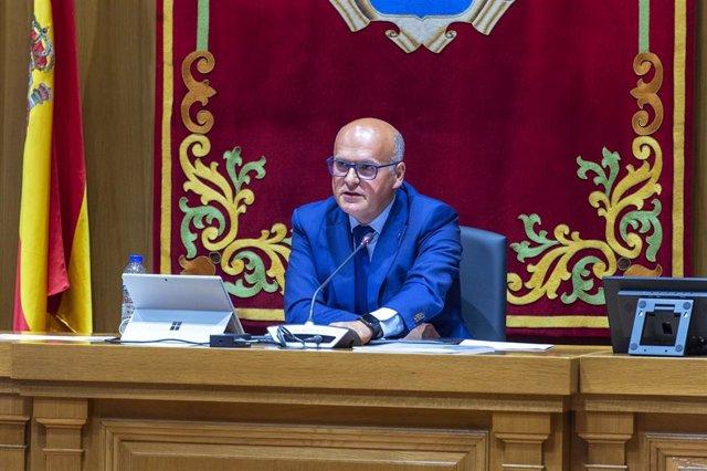 Foto de arquivo do pleno da deputación provincial de Ourense