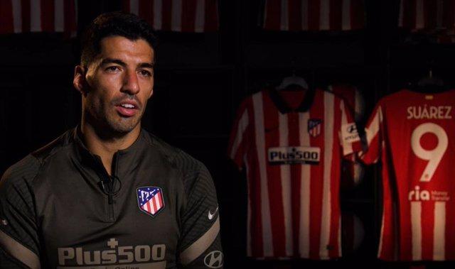 """Fútbol.- Suárez: """"Vengo a adaptarme a la dinámica y el entusiasmo del Atlético"""""""