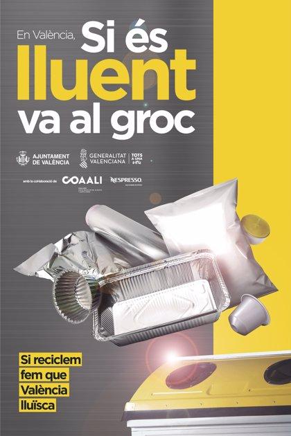 El proyecto 'Si és lluent va al groc' recoge en agosto 162.100 kilos de aluminio y acero ligero