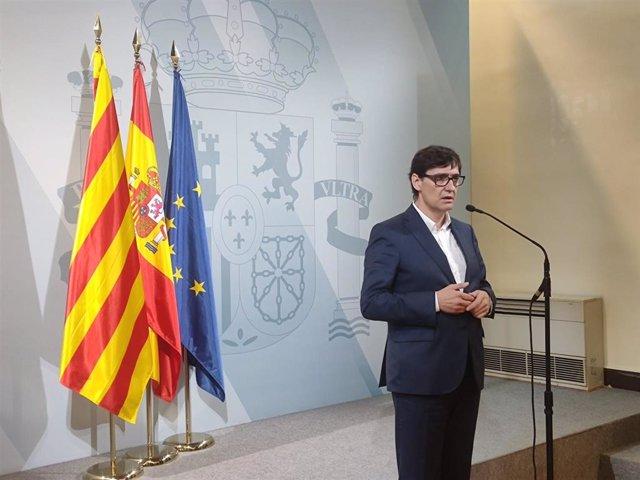 El ministro de Sanidad, Salvador Illa, en la Delegación del Gobierno en Barcelona