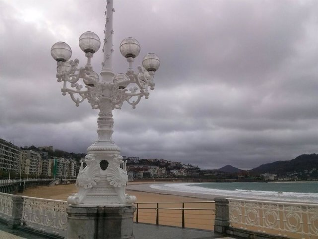 San Sebastián nuboso