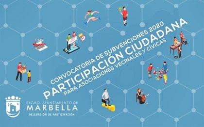 Ayuntamiento de Marbella (Málaga) abre el plazo de solicitud de subvenciones para colectivos vecinales