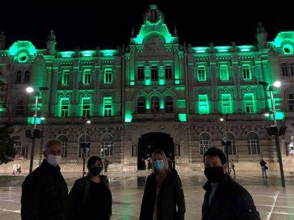 """COF Cantabria agradece al Ayuntamiento de Santander que se """"tiñera de verde"""" por el Día Mundial del Farmacéutico"""