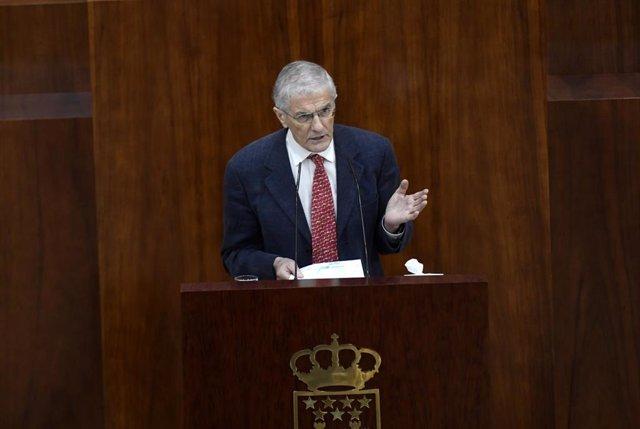 El portavoz de Sanidad en la Asamblea de Madrid, José Manuel Freire
