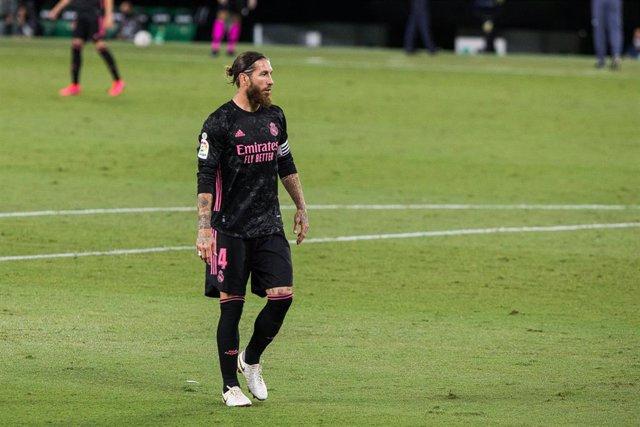 El capitán del Real Madrid Sergio Ramos