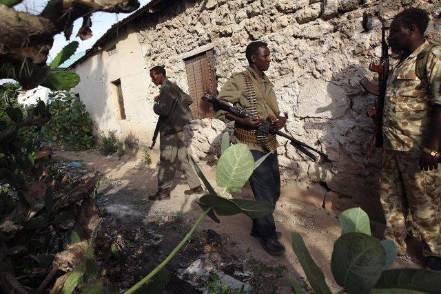 Imagen de varios militares somalíesm