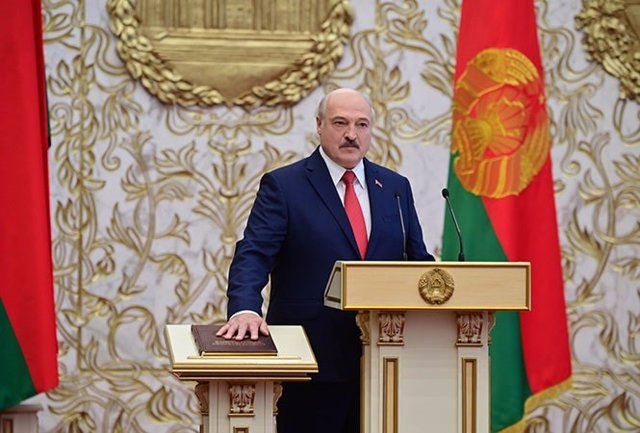 Ceremonia de toma de posesión de Alexander Lukashenko.