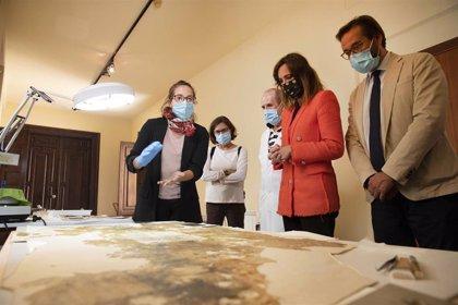 La Alhambra inicia la restauración de las pinturas murales del Maristán de Granada