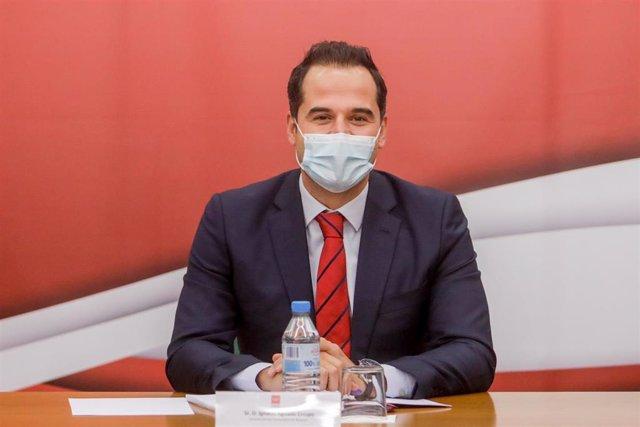 El vicepresidente de la Comunidad de Madrid, consejero de Deportes, Transparencia y portavoz del Gobierno regional, Ignacio Aguado.