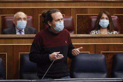 Vox pregunta a Iglesias en el Congreso si su augurio de que el PP no volverá a gobernar es una amenaza