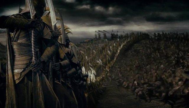 Imagen de la batalla de Daglorad, escena del prólogo de El señor de los anillos: La comunidad del anillo