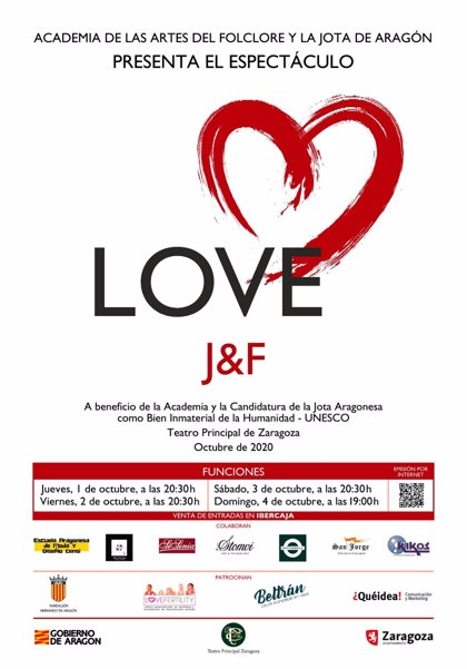 El Teatro Principal acoge la Gala Love creada por la Academia de las Artes del Folclore y la Jota de Aragón