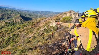 Controlado el incendio forestal en la Ribera d'Ebre (Tarragona)