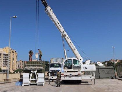 El contingente del Ejército español en Líbano participa en labores de desescombro en la zona de explosión de Beirut