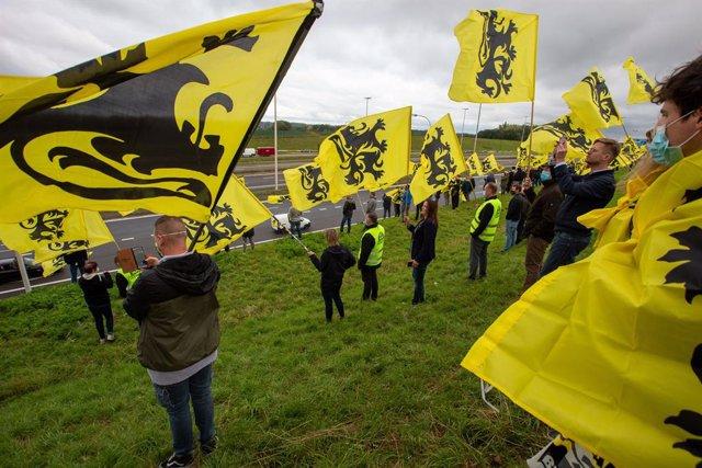 Bélgica.- Protestas de la extrema derecha en Bélgica contra la coalición que bus