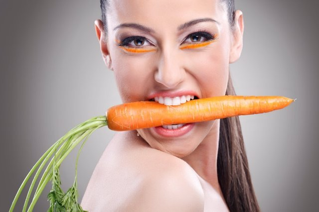 Vista, zanahoria