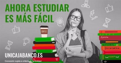Unicaja Banco facilita el pago de la matrícula de estudios y anticipa las becas con préstamos a un interés del 0%
