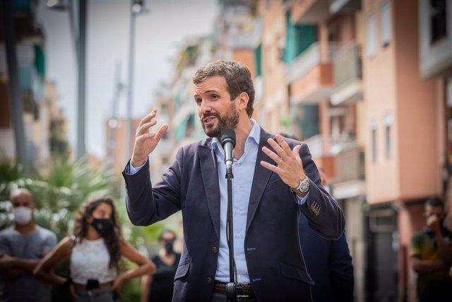 El president del Partit Popular, Pablo Casado. Badalona, Barcelona, Catalunya (Espanya), 17 de setembre del 2020.