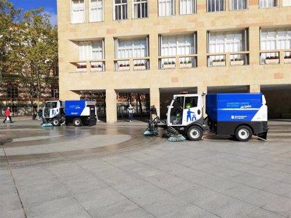 El Ayuntamiento de Logroño inicia este lunes en el Distrito Centro la campaña anual de limpieza intensiva de la ciudad