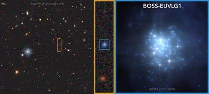 Primera galaxia con luminosidad UV comparable a la de un cuásar