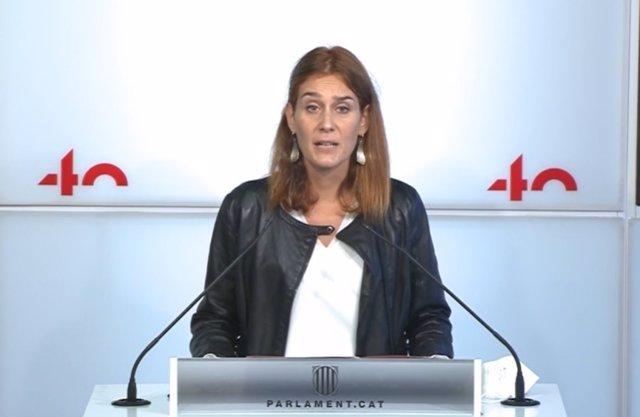 La coordinadora nacional dels comuns, Jéssica Albiach