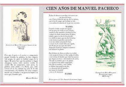 La Diputación de Cáceres celebra el centenario del poeta Manuel Pacheco con una exposición de su obra