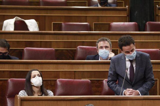 El portavoz parlamentario de Ciudadanos, Edmundo Bal, interviene en una sesión de control al Gobierno en el Congreso de los Diputados, en Madrid (España), a 23 de septiembre de 2020.