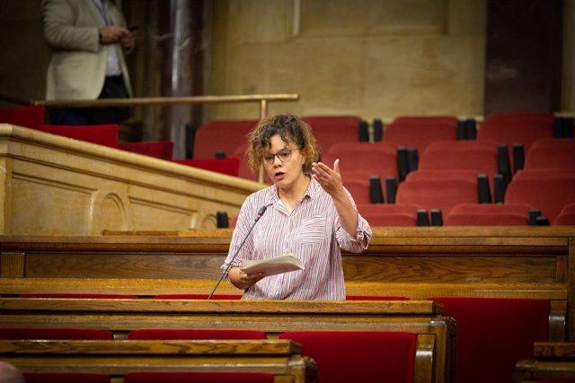 La diputada de la CUP al Parlament de Catalunya, Natàlia Sànchez.