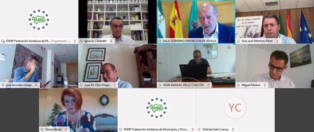 La Permanente de la Federación Andaluza de Municipios y Provincias (FAMP) reunida este lunes